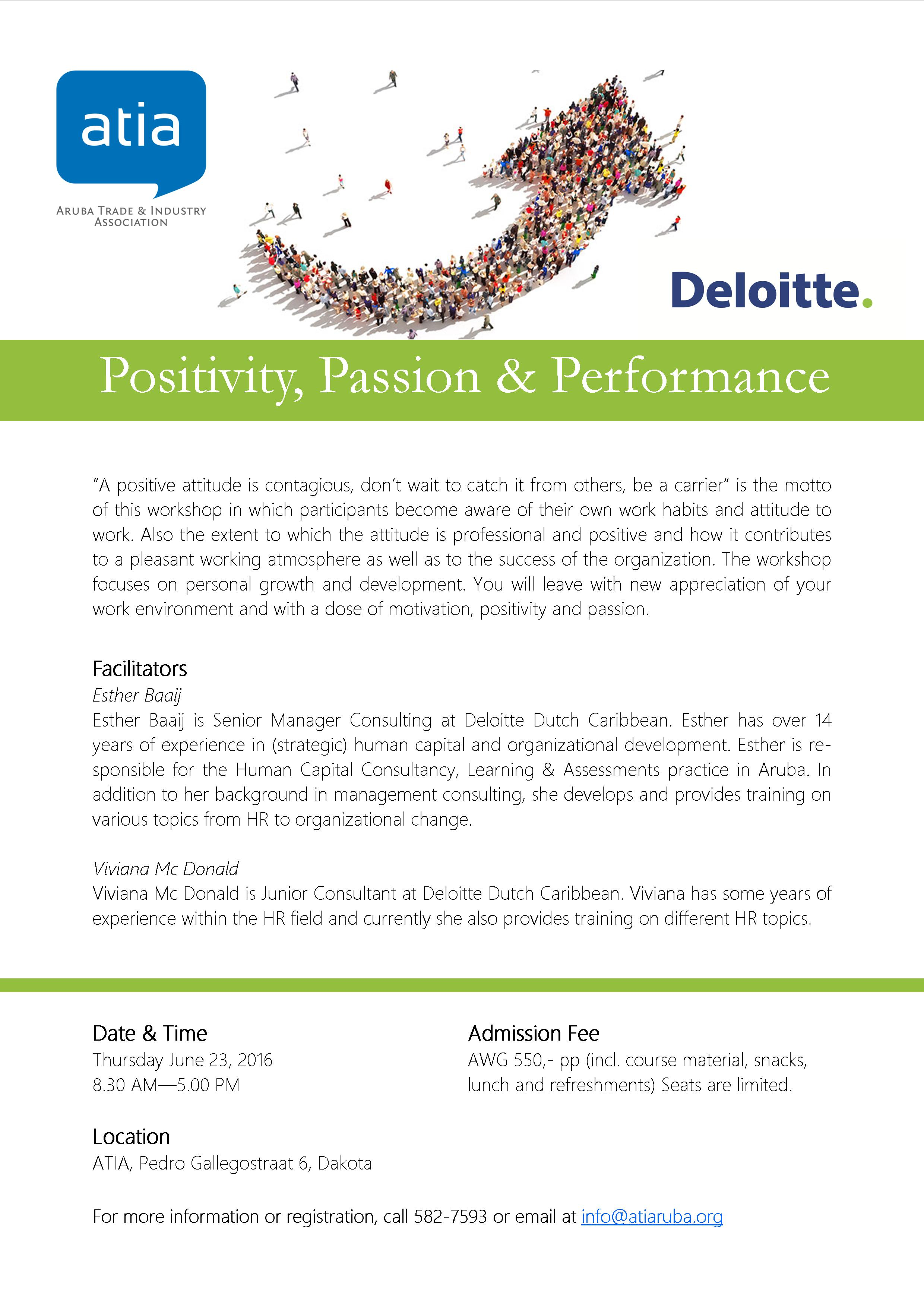Flyer Positivity Passion & Performance
